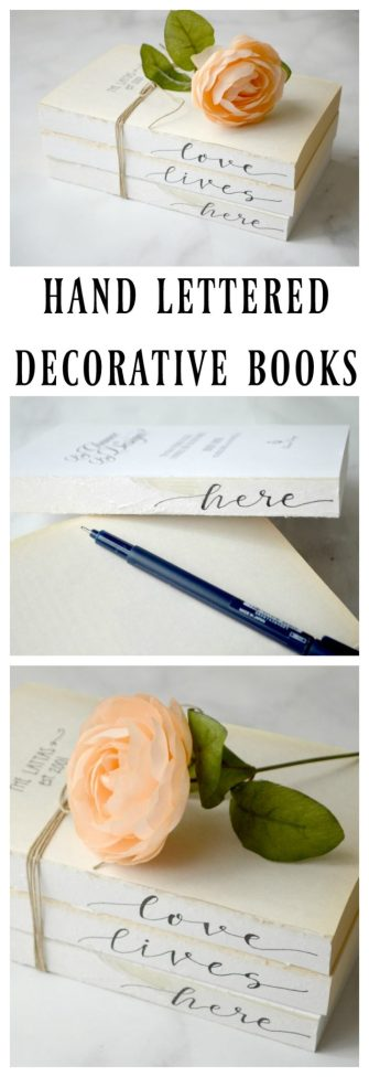 Hand Lettered Decorative Books