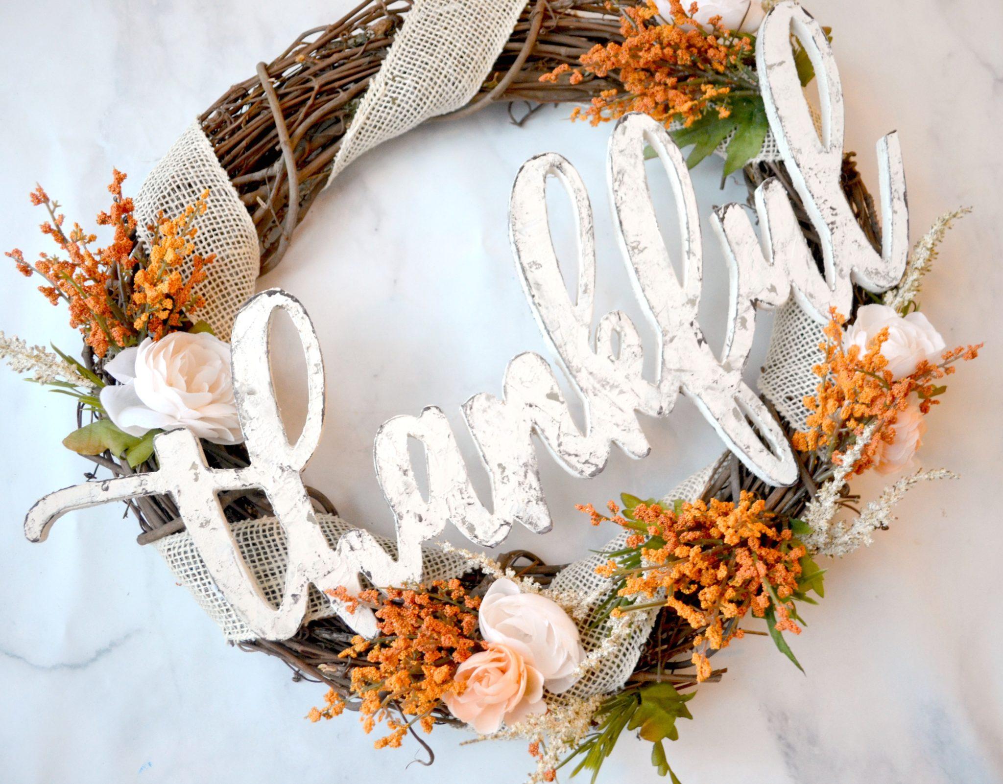 Thankful Fall Wreath