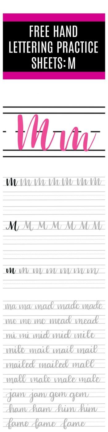 Brush Script M Practice