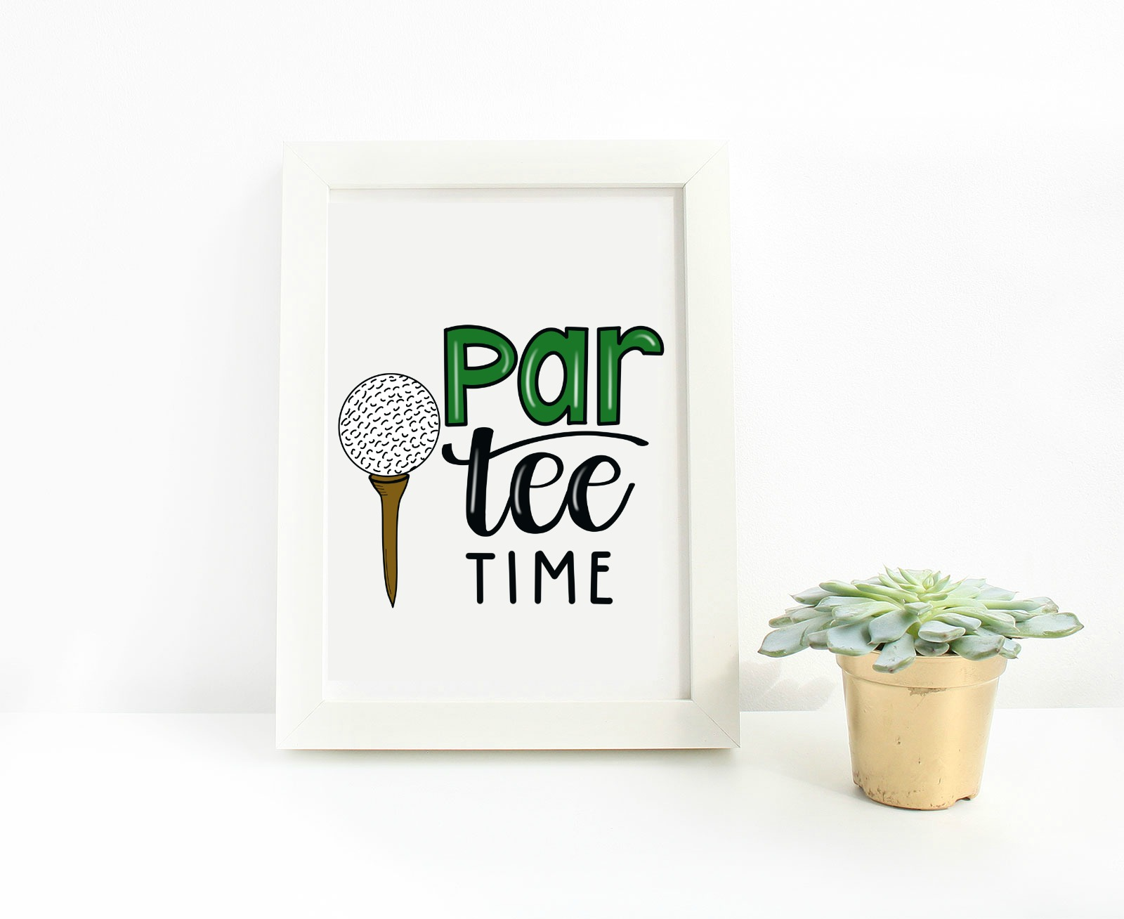 Hand Lettered Golf Printable