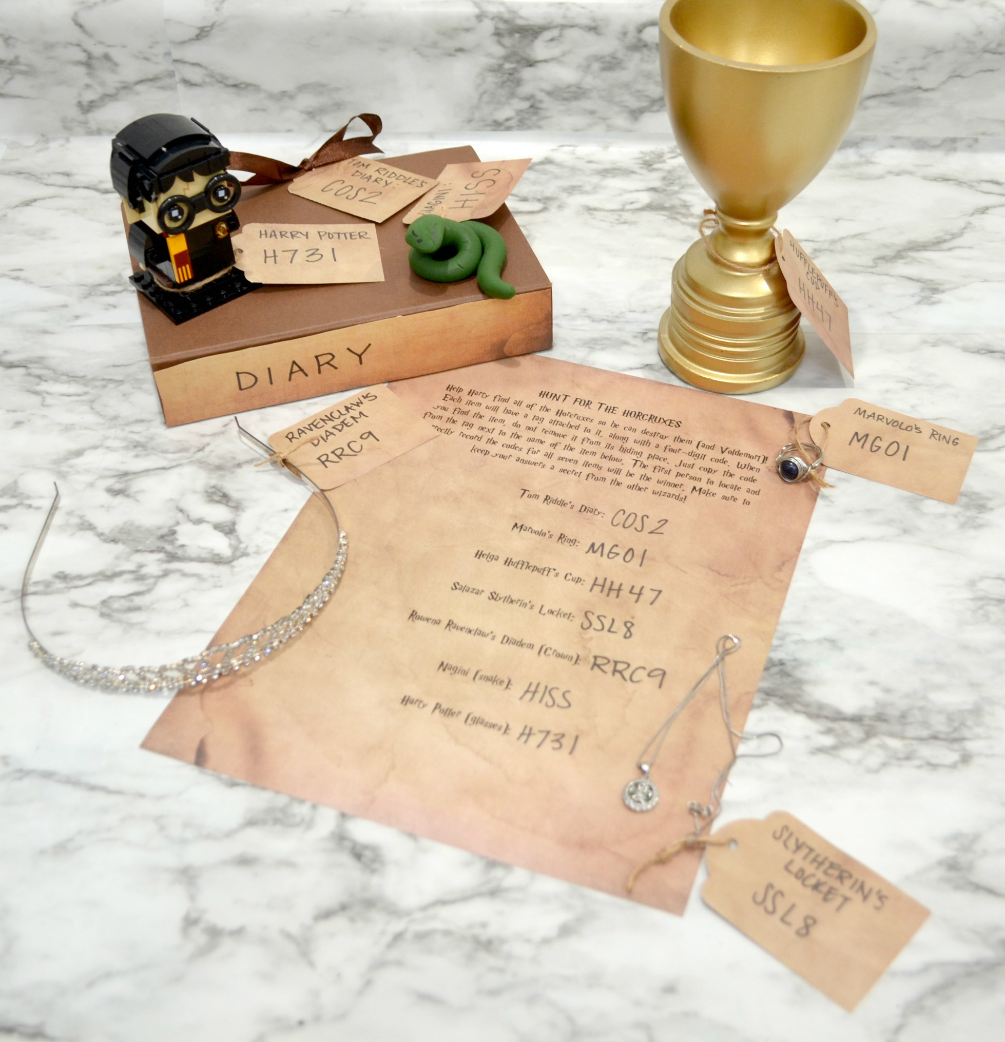 Harry Potter Horcrux Hunt Party Activity and Printable