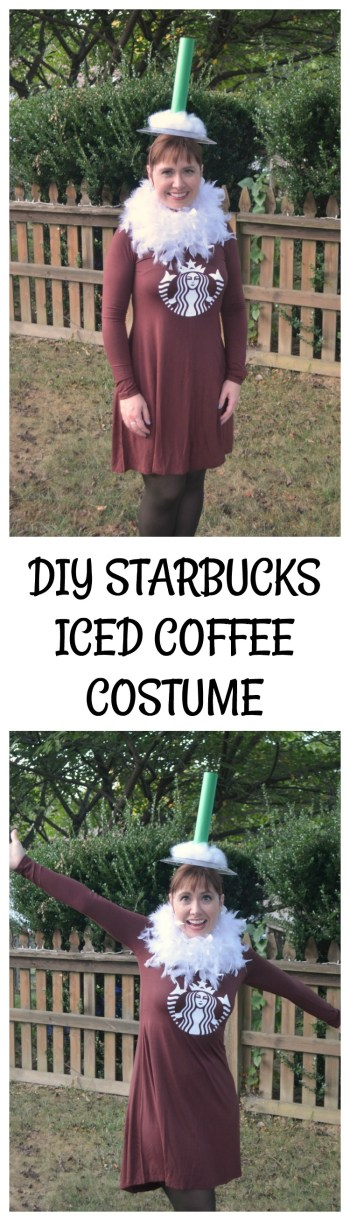 DIY Starbucks Iced Coffee Costume