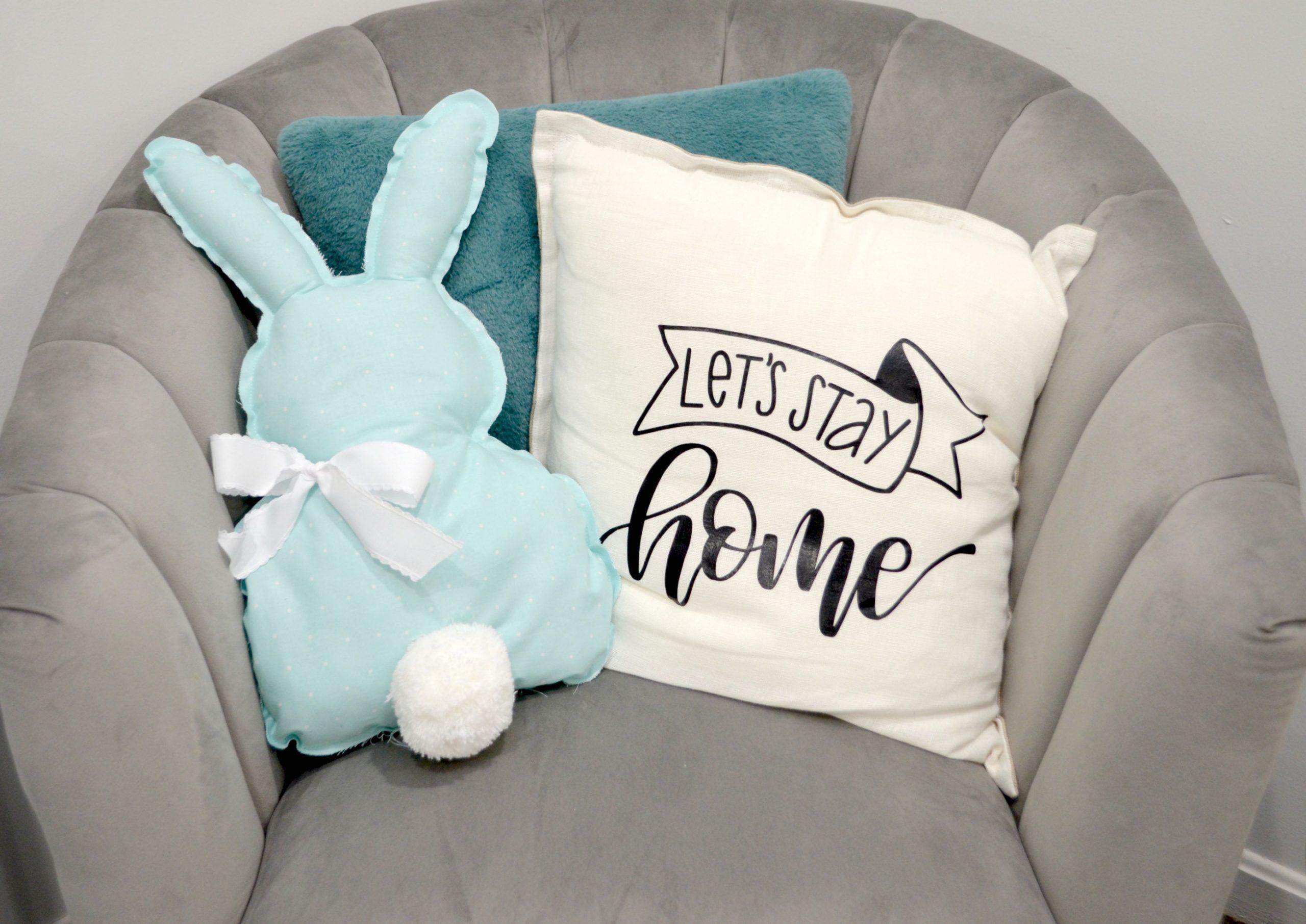 Farmhouse-Style Bunny Pillow