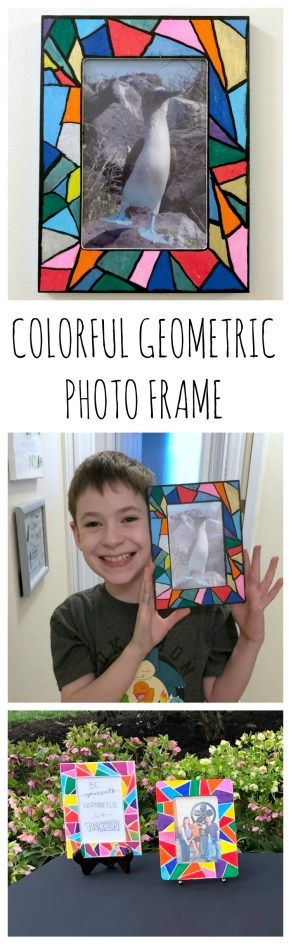 Colorful Geometric Photo Frame