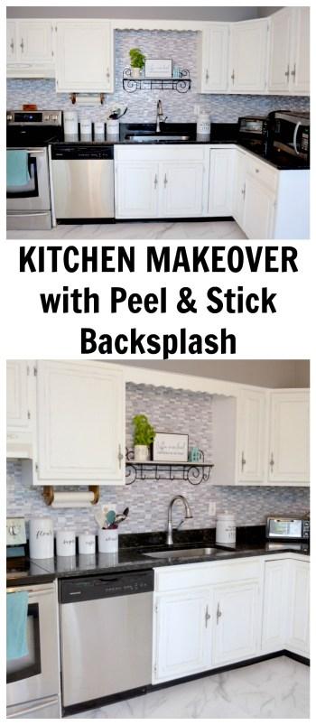 Kitchen makeover with Peel & Stick Backsplash