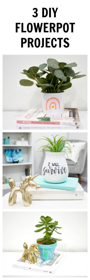 3 DIY Flowerpot Projects