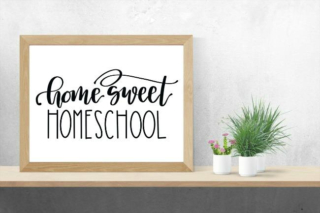 Home Sweet Homeschool Sign
