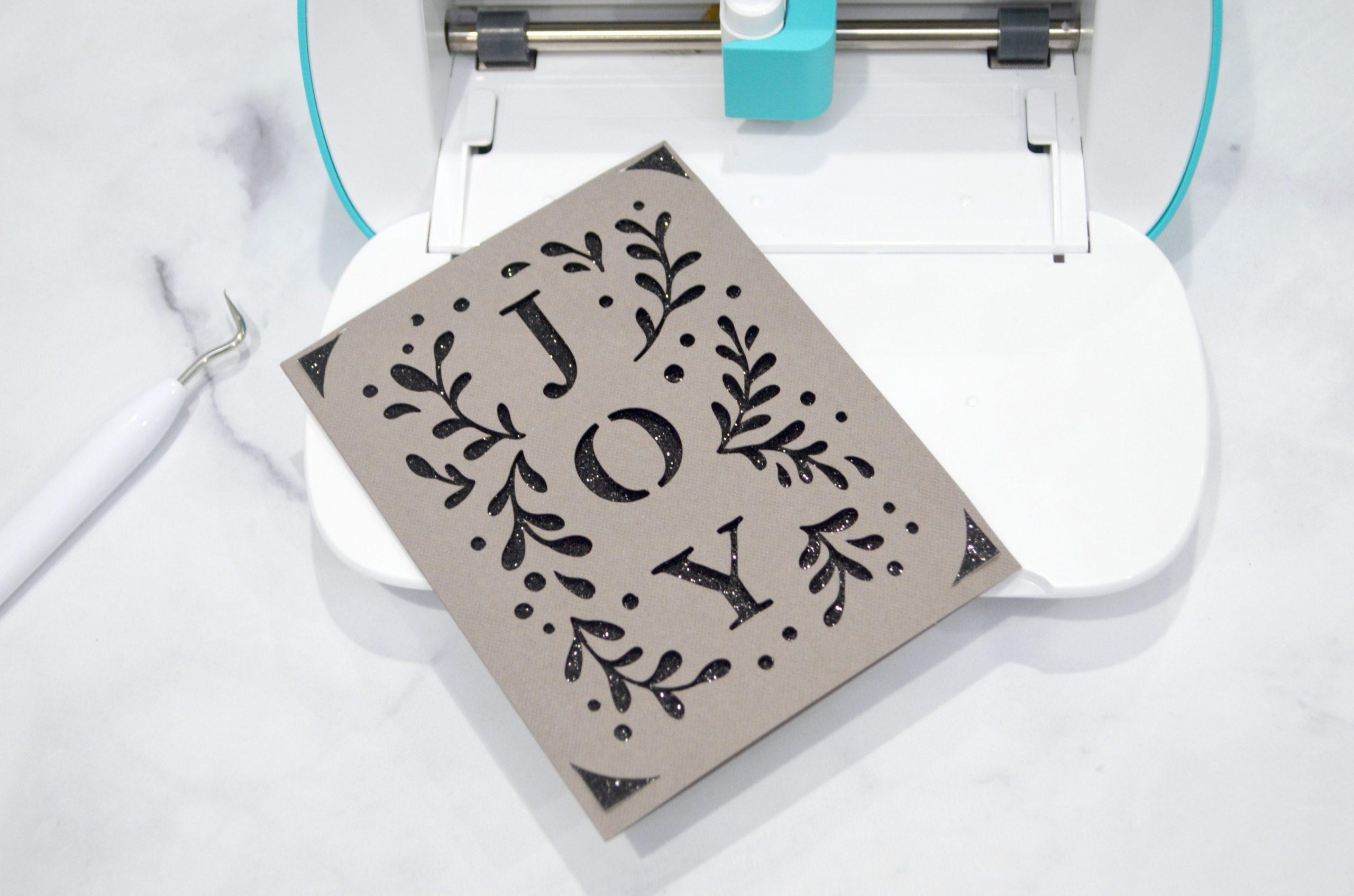Joy Christmas Card With Cricut Insert Cards Amy Latta Creations