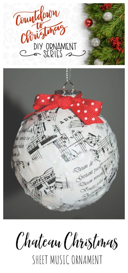Chateau Christmas Ornament