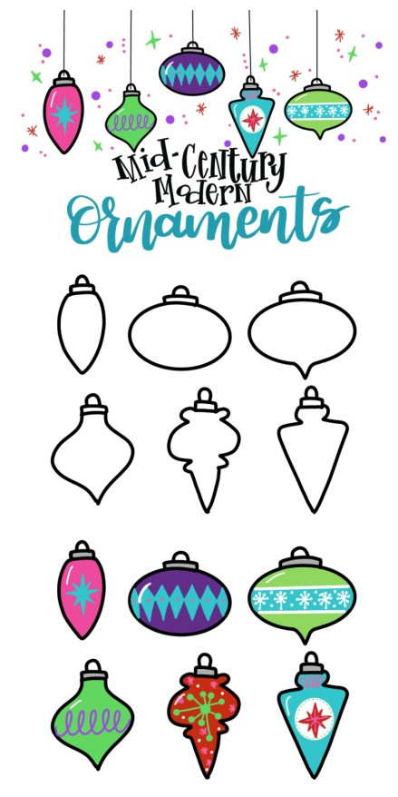 How to Draw Mid-Century Modern Ornaments