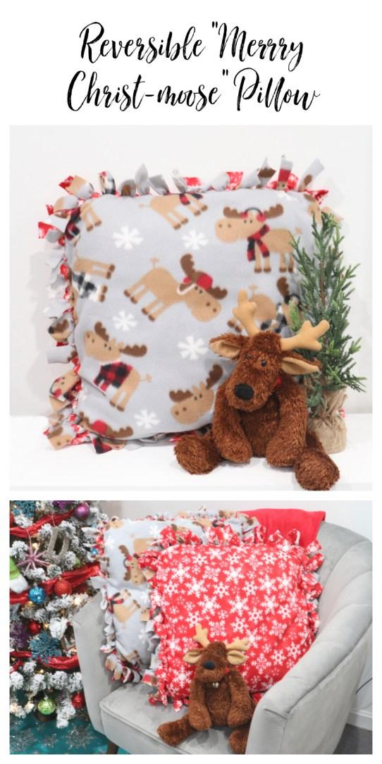 Merry Christ-moose Pillow