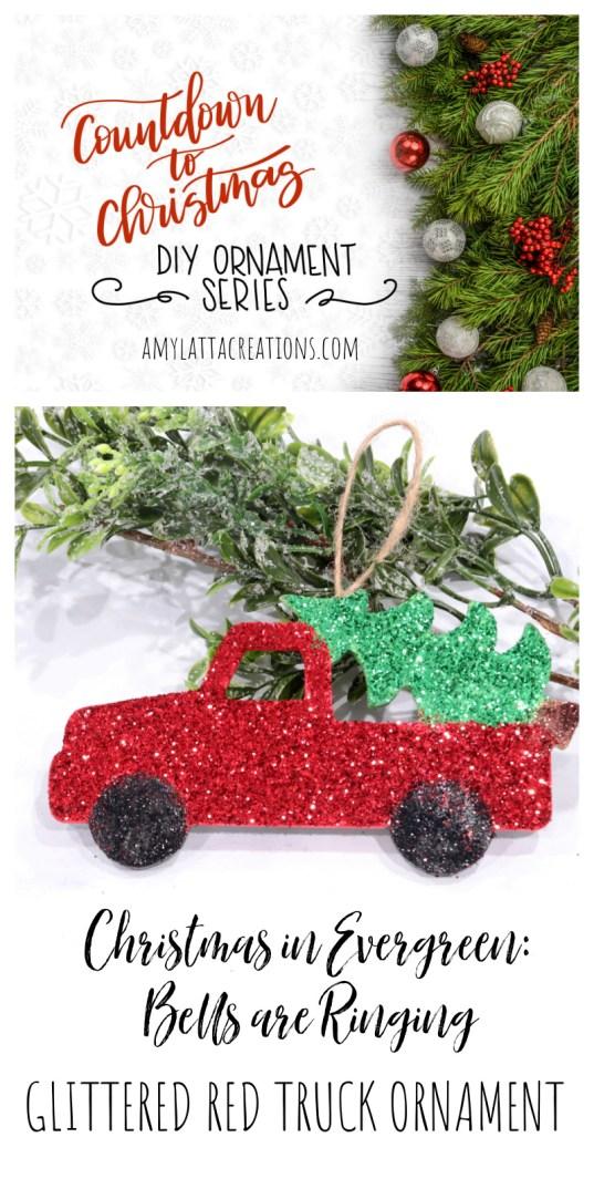 Glittered Red Truck Ornament