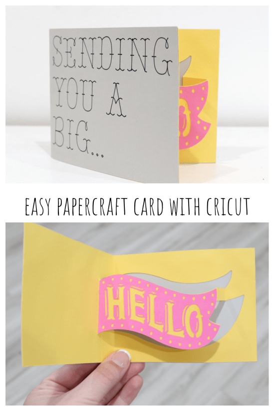 Easy Papercraft Card with Cricut