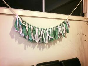 Green and pink party banner