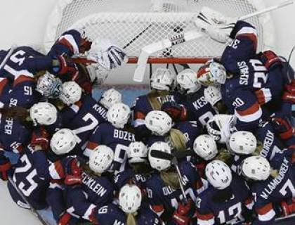 US Women's Hockey team at Sochi. (www.nbcnews.com)