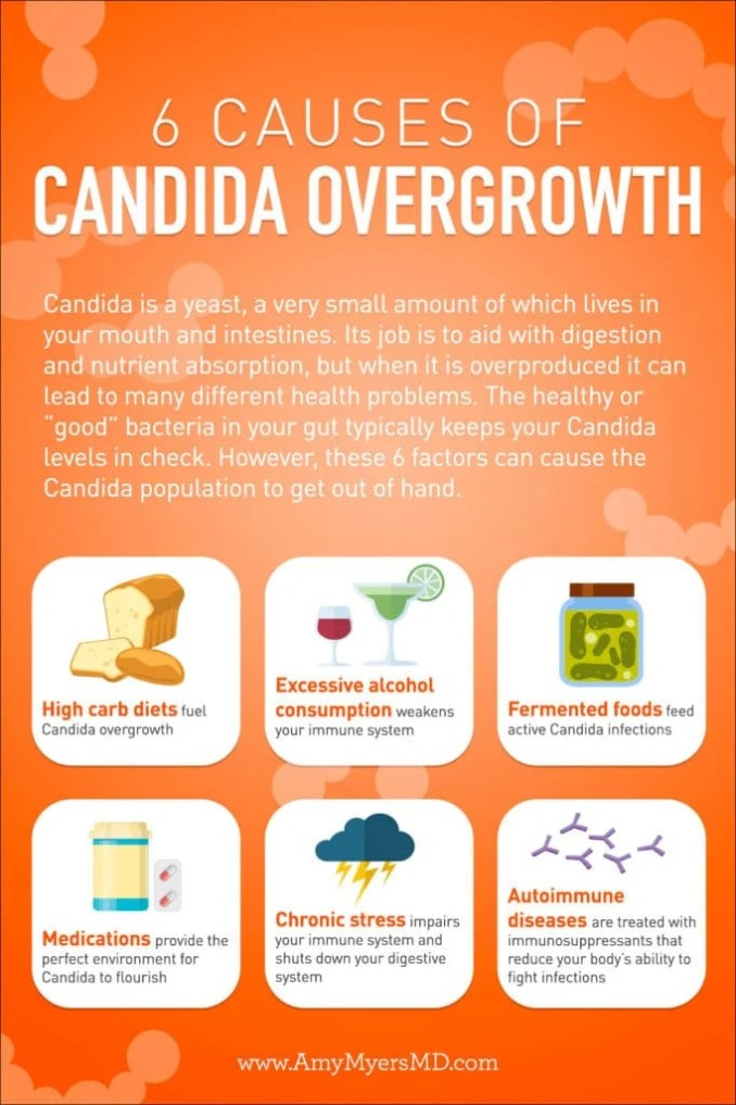 Causes of Candida overgrowth