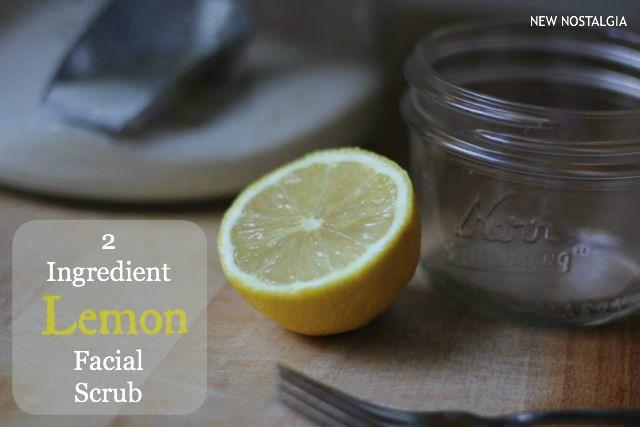 2 ingredient lemon facial scrub