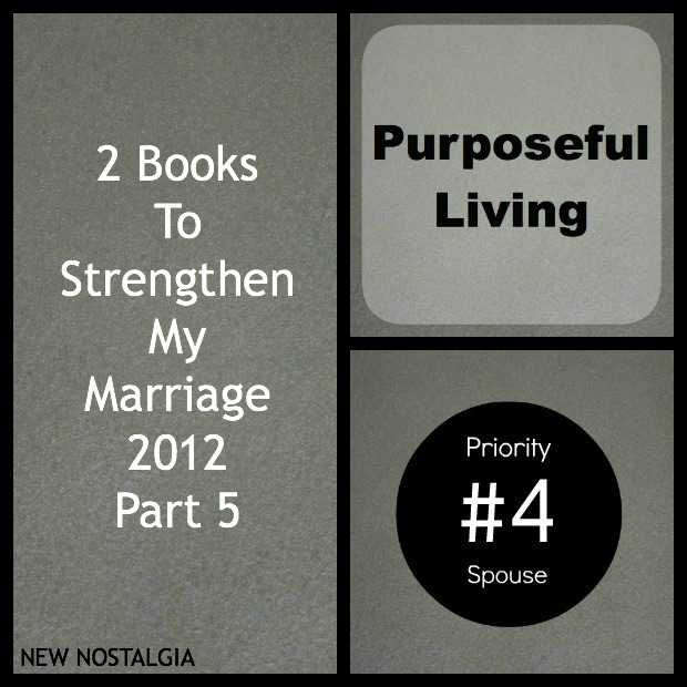 Purposeful living Priority #4