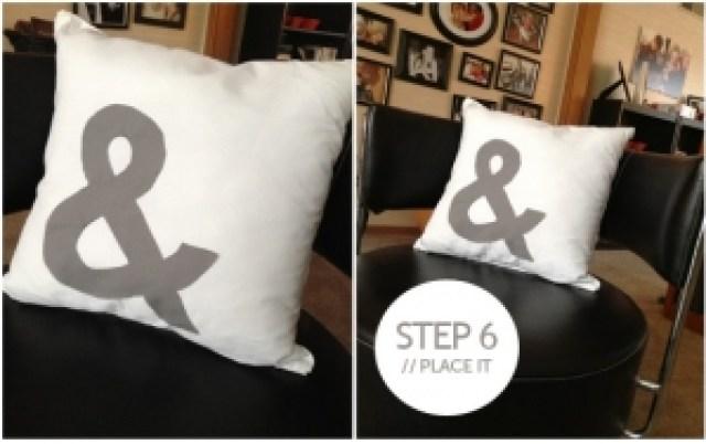 Ampersand pillow