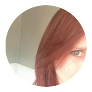 Healthy moisturized red hair