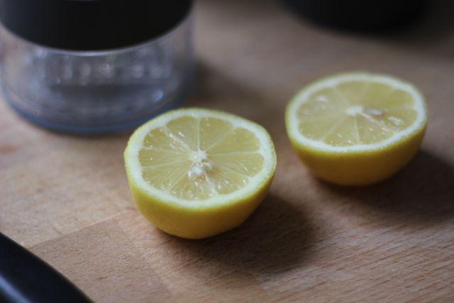 two lemon halves