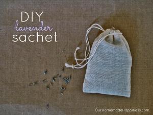 DIY lavender sachet