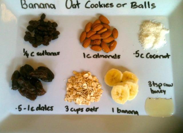banana oat cookies ingredients