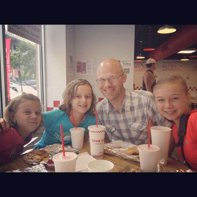 Family at Five Guys