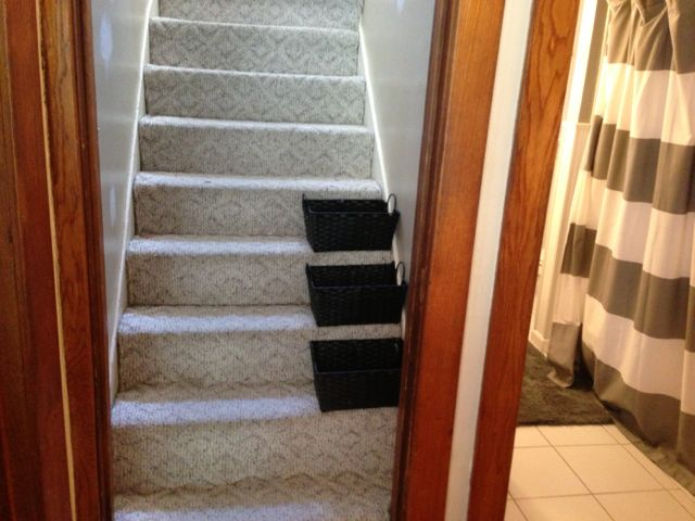 Staircase all organized
