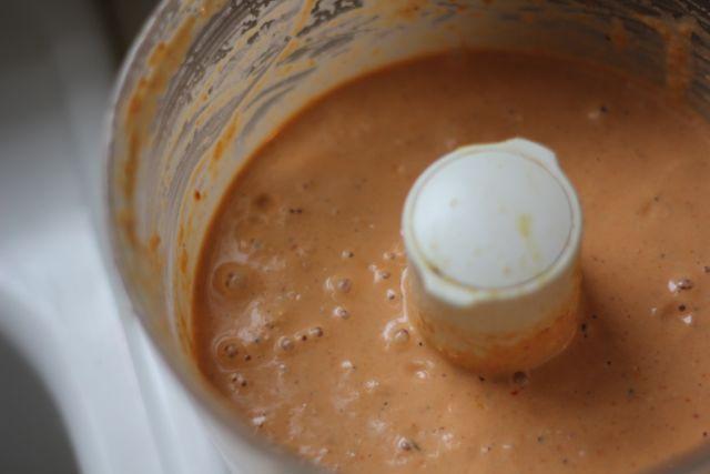 Blending cashew dip