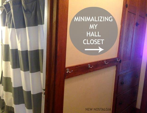 Minimalizing my hall closet