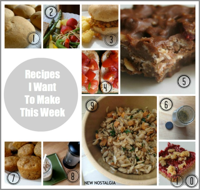Recipes I want to make this week