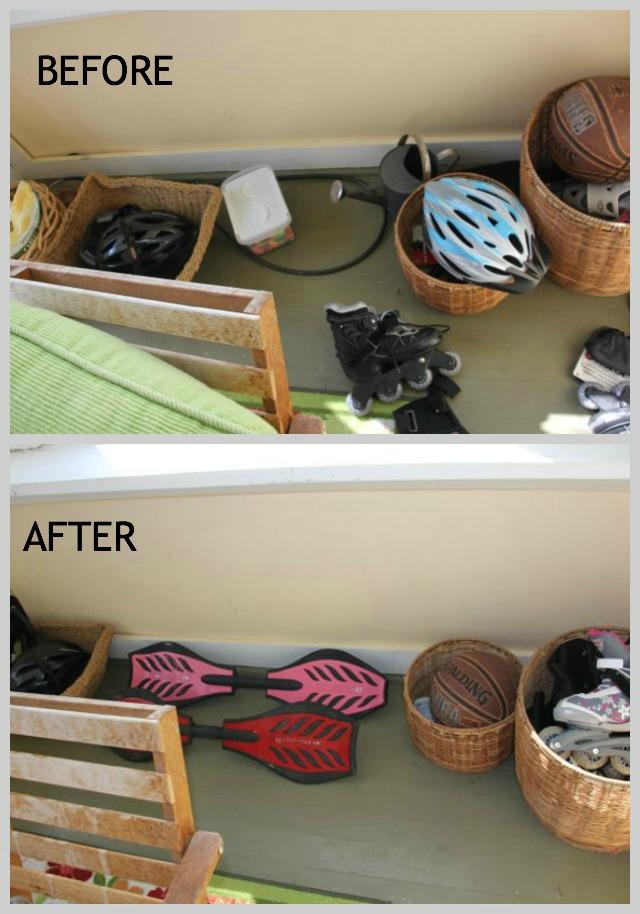 Organizing a sunroom