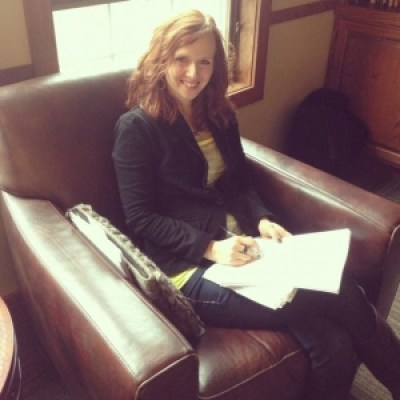 Writing in a chair