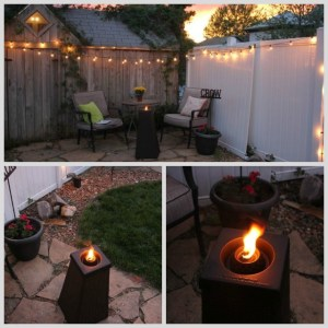 Flame sculptures for backyard