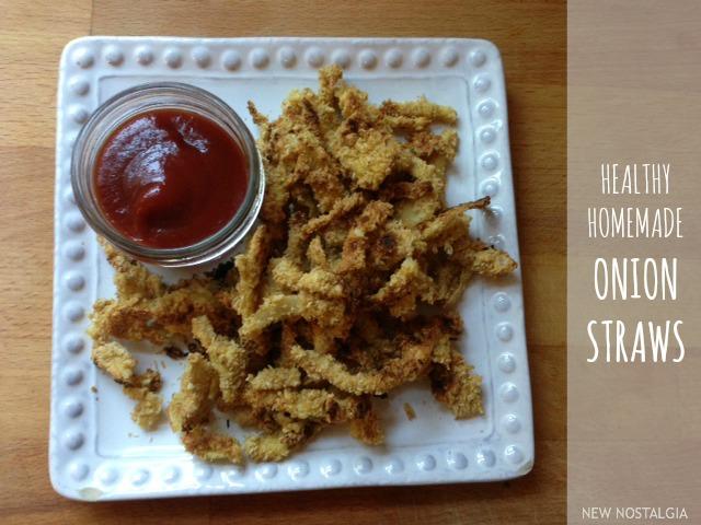 Healthy homemade onion straws.