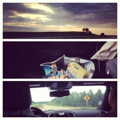 Road trip in car