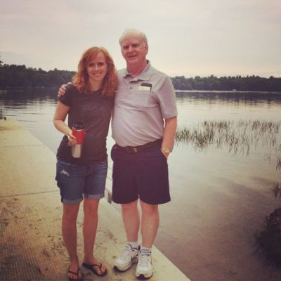 Amy Bowman and her father