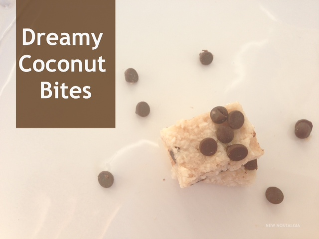 Dreamy coconut bites and chocolate chips