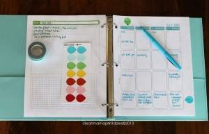 Clean Mama 18 month planner