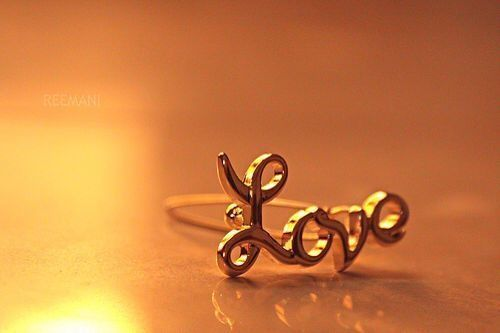 """Ring that spells out """"love"""""""