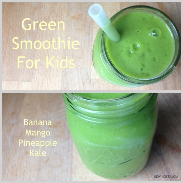 Green smoothie for kids