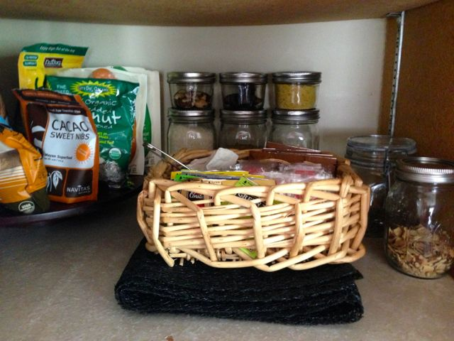 Basket and spices