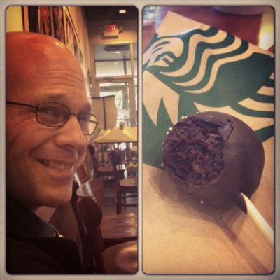Date night with husband and Starbucks cake pops