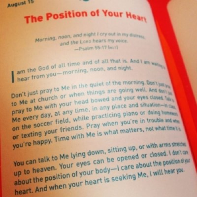 Jesus calling devotional for kids
