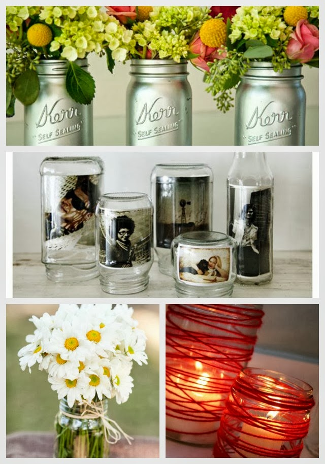 24 Best Diy Mason Jar Vases Votives Photo Holders