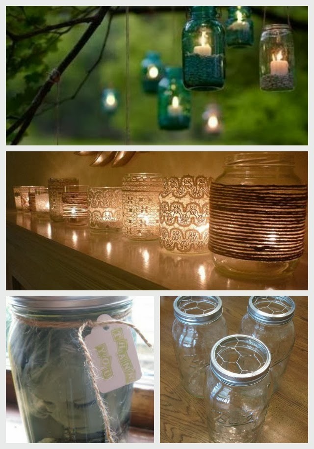 collection of mason jar pins from pinterestz