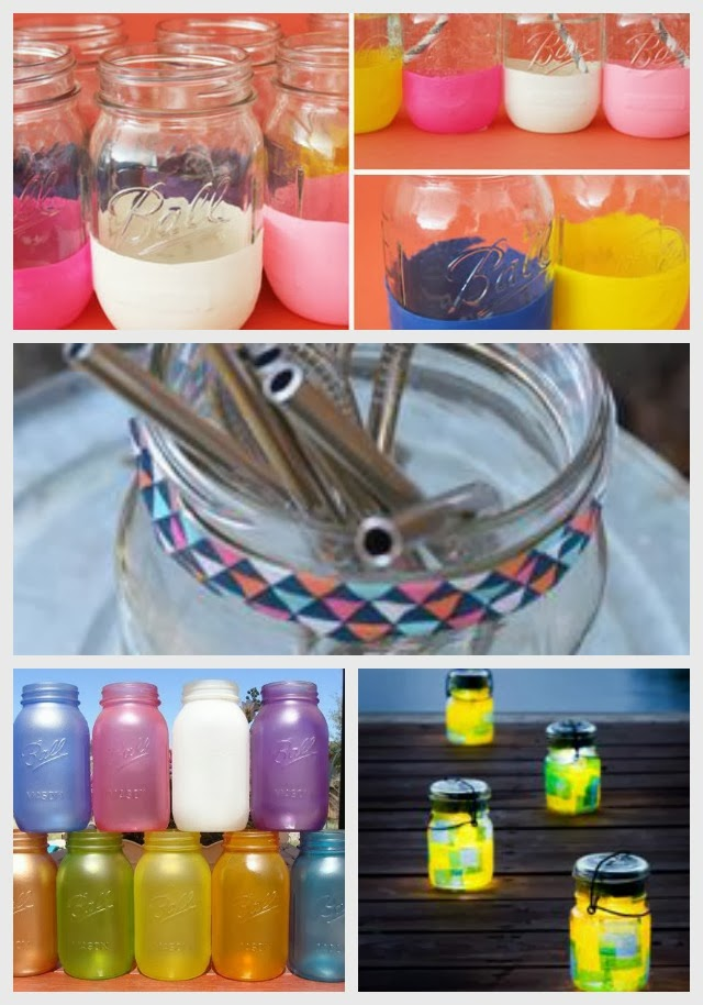 collection of mason jar pins from pinterest