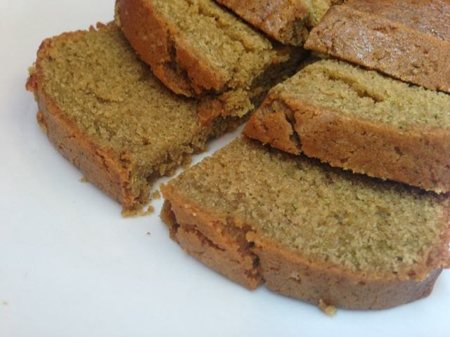 slices of zucchini bread
