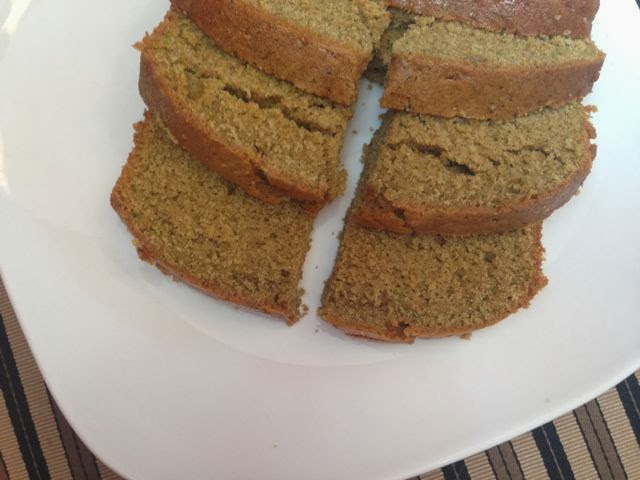plate of sliced zucchini bread